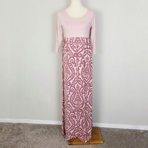 Bellamie Pink Floral Baby Doll Maxi Dress XL